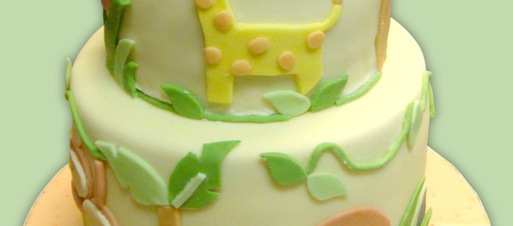 jungle cake, safari cake, forest cake, tree cake, elephant cake, lion cake, monkey cake, giraffe cake, leaf cake, leaves cake, palm tree cake, baby cake