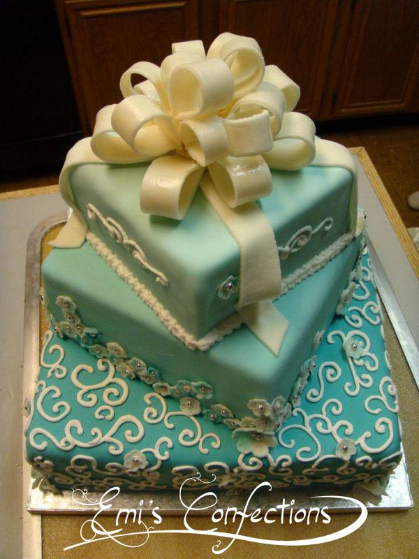 Big Turquoise 60th Birthday Cake Emi Ponce De Souza Turning