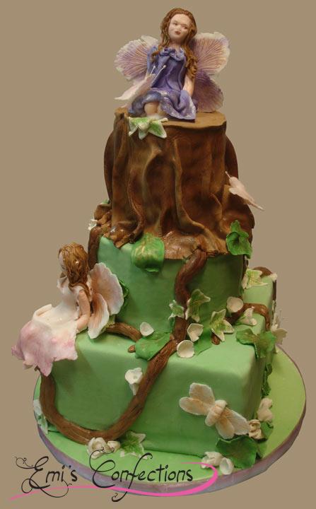 fairy cake, fairies cake, tree cake, trunk cake, woodland ...
