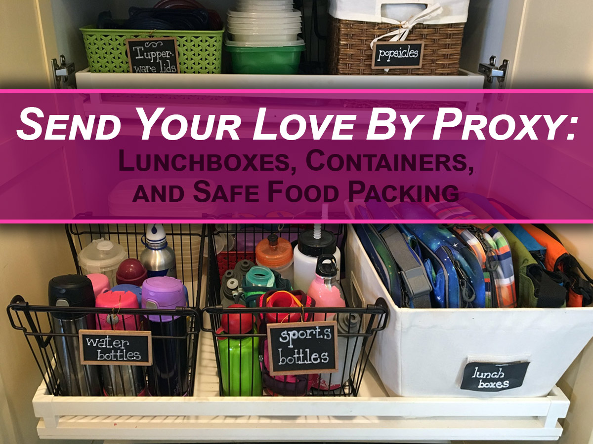 How to send your love by proxy: lunchboxes containers and safe
