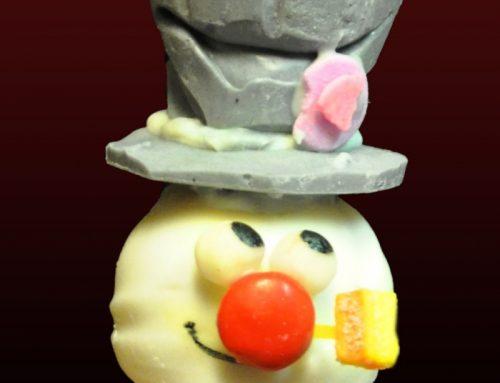 Frosty the Snowman Cakepop