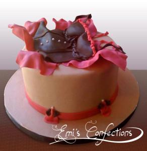 corset cake, bachelorette cake, lingerie cake