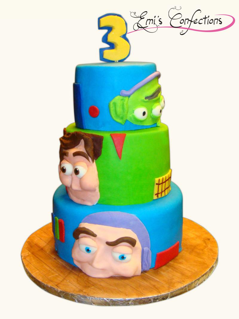 Pleasant Toy Story Cake Emi Ponce De Souza Funny Birthday Cards Online Inifodamsfinfo