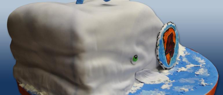 Whale cake, humpback whale cake