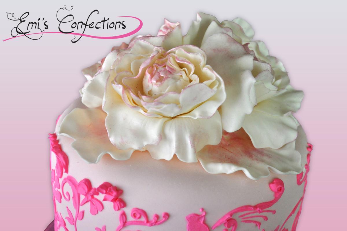 Groovy Anyas Pinkalicious 3 Tiered Birthday Cake Emi Ponce De Souza Birthday Cards Printable Benkemecafe Filternl