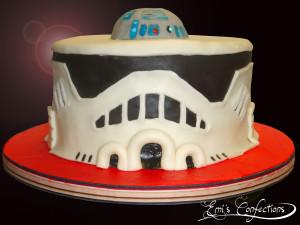 Strange Clone Trooper Cake Emi Ponce De Souza Personalised Birthday Cards Vishlily Jamesorg