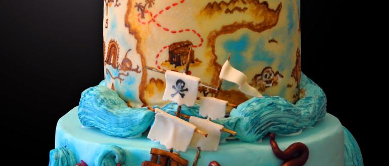 Pirate Ship Cake, Skull Cake, pirate skull, Pirates of the Caribbean cake