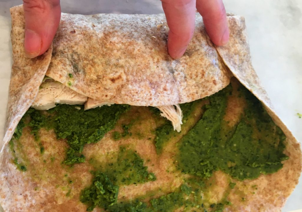 pesto-chicken-wrap-how-to-wrap
