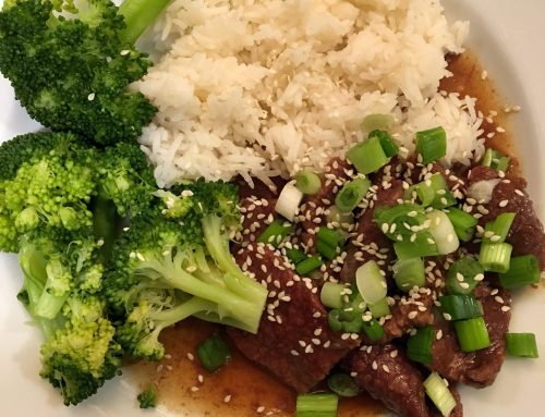 Mongolian Beef and Broccoli with Rice