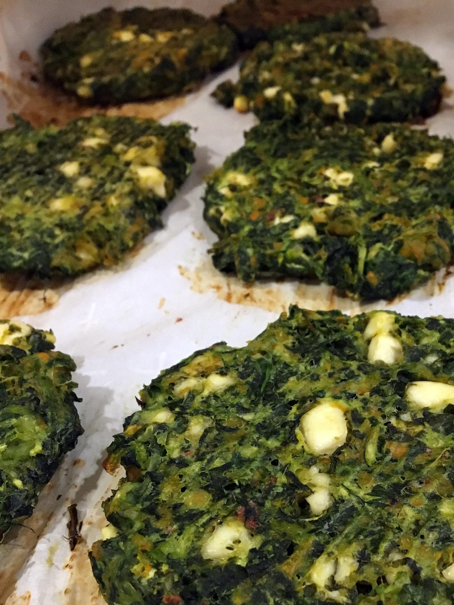 Baked Zucchini Sweet Potato Greens Pancakes With Garlic Tzatziki Emi Ponce De Souza