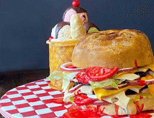 Burger and Sundae Cake